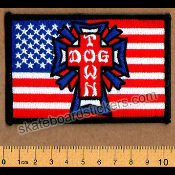 Dogtown Skateboard Patch - Flag - SkateboardStickers.com