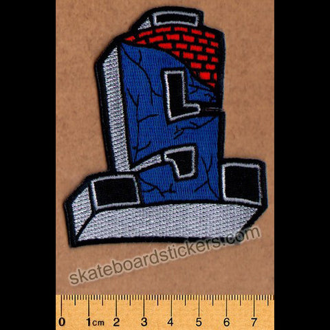 Suicidal Embroidered Patch Cross Logo Color - SkateboardStickers.com
