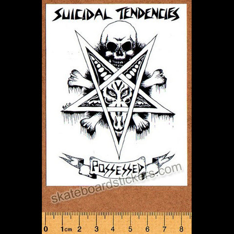 Suicidal Tendencies Possessed Skateboard Music Sticker - SkateboardStickers.com