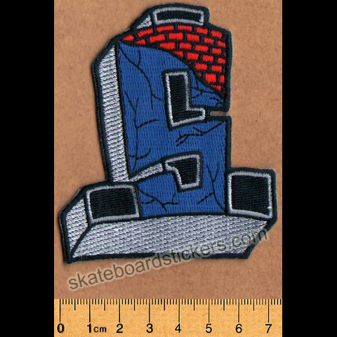Suicidal Embroidered Skateboard Patch Cross Logo