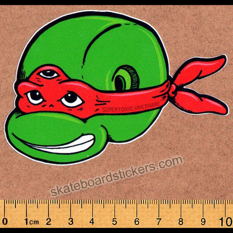 Super Toxic Urethane - Ninja Turtles Skateboard Sticker - SkateboardStickers.com