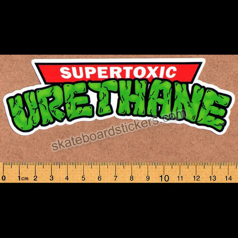Super Toxic Urethane - Ninja Turtles Logo Skateboard Sticker - SkateboardStickers.com