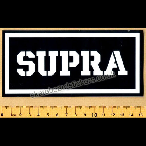 Supra Shoes Footwear Skateboard Sticker - SkateboardStickers.com