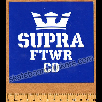Supra Shoes Skateboard Sticker - Blue - SkateboardStickers.com