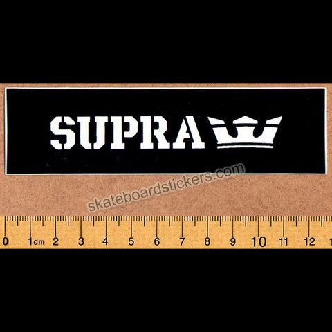 Supra Footwear Medium Skateboard Sticker - SkateboardStickers.com