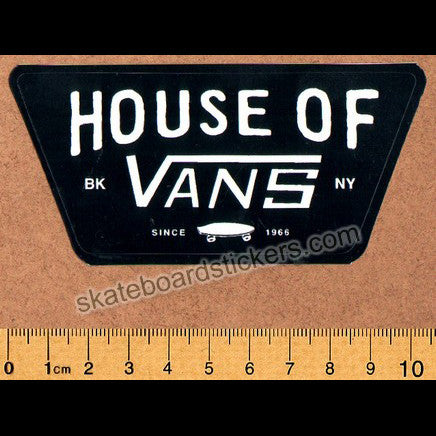 House of Vans Skateboard Sticker - SkateboardStickers.com