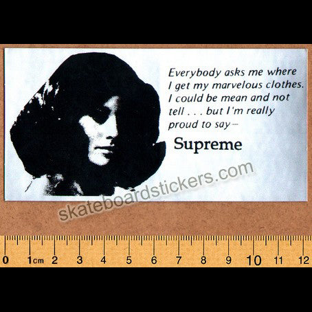 Supreme Skateboard Sticker