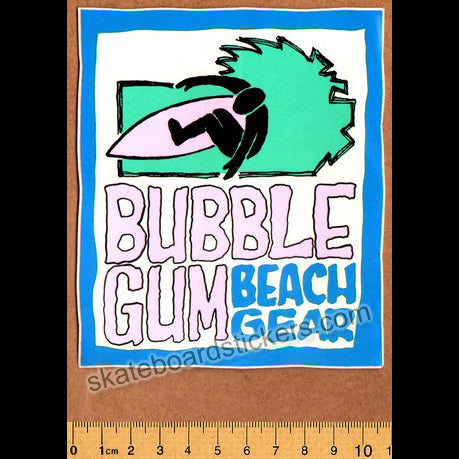 Bubble Gum Beach Gear Surf / Surfing / Surfboard Sticker
