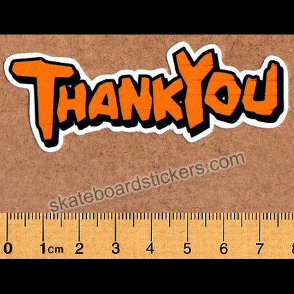 Thank You Skateboard Sticker