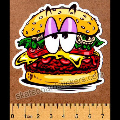 Thank You Skateboard Sticker - Burger