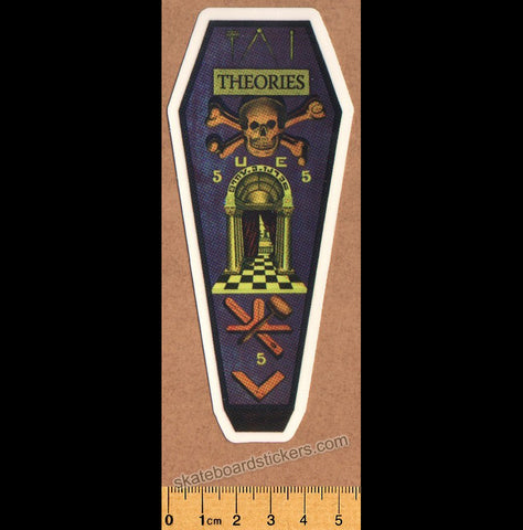 Theories of Atlantis Skateboard Sticker - Coffin