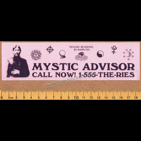 Theories of Atlantis Skateboard Sticker - Mystic Advisor