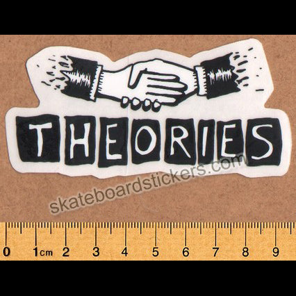 Theories of Atlantis Skateboard Sticker - Hand Shake