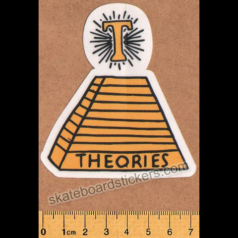 Theories of Atlantis Skateboard Sticker - Pyramid