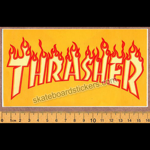 Thrasher Magazine Flame Logo Old School Skateboard Sticker