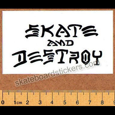Thrasher Magazine Skate and Destroy Old School Skateboard Sticker