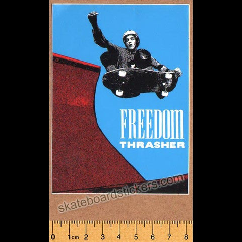 Thrasher Magazine Freedom Thrasher Old School Skateboard Sticker