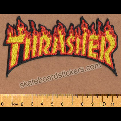 Thrasher Magazine Flame Skateboard Patch