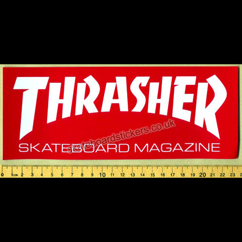 Thrasher Magazine Skateboard Sticker - large red