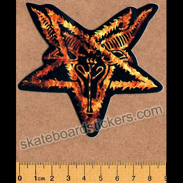 Thrasher Magazine Pentagram Skateboard Sticker