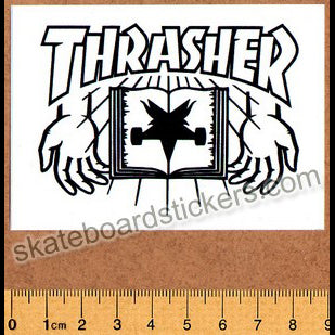 Thrasher Magazine Skate Bible Skateboard Sticker
