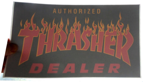 Thrasher Magazine Authorized Dealer Window Skateboard Sticker