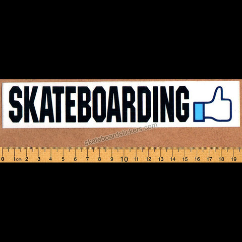 Like Skateboarding Skateboard Sticker