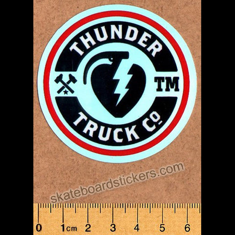 Thunder Trucks Mainline Skateboard Sticker - Silver/Red
