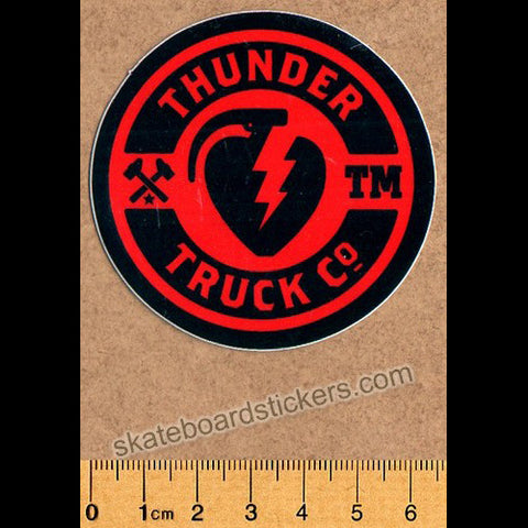 Thunder Trucks Mainline Skateboard Sticker - Red/Black - SkateboardStickers.com