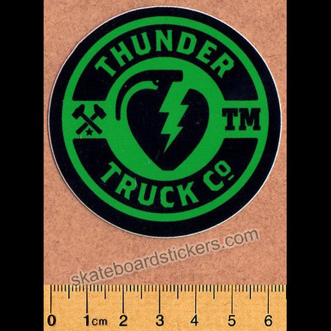Thunder Trucks Mainline Skateboard Sticker - Green/Black - SkateboardStickers.com
