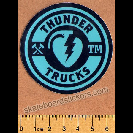 Thunder Trucks Mainline Skateboard Sticker - Black/Blue