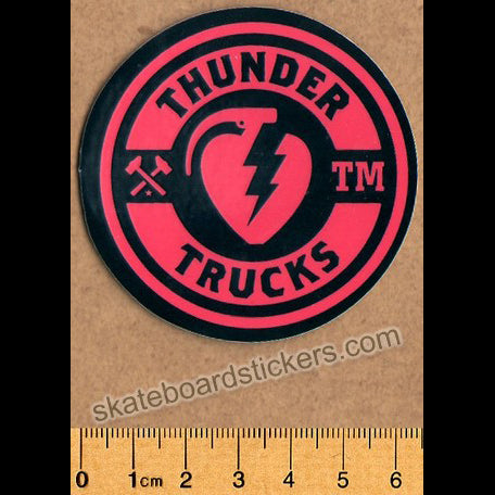 Thunder Trucks Mainline Skateboard Sticker - Black/Red