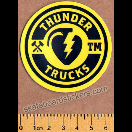 Thunder Trucks Mainline Skateboard Sticker - Yellow/Black