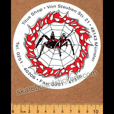 Titus Skates Spider Web Old School Vintage Skateboard Sticker