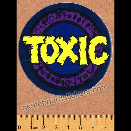 Toxic Wheels Skateboard Sticker