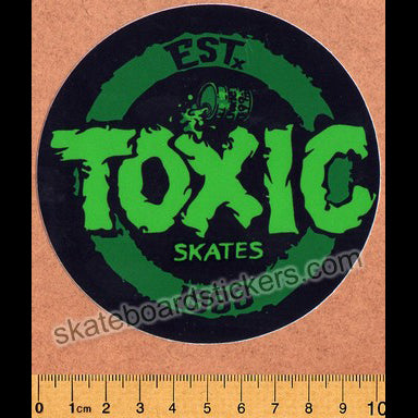 Toxic Wheels Skateboard Sticker - large