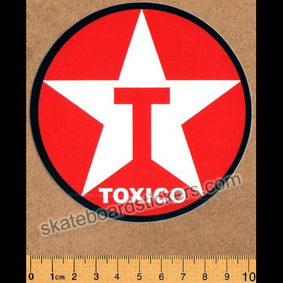 Toxic Wheels Skateboard Sticker - Toxico