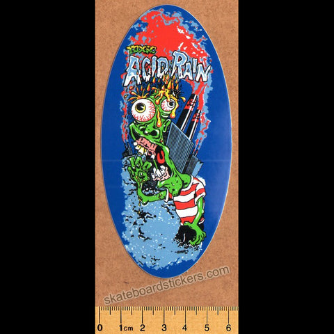 Toxic Wheels Skateboard Sticker - Acid Rain