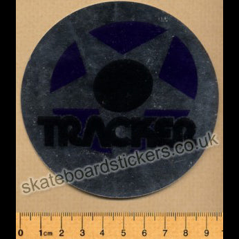 Tracker Trucks Old School Skateboard Sticker - Silver
