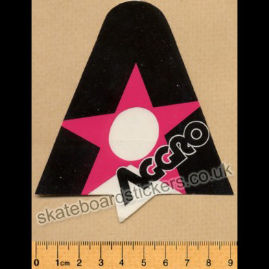 Tracker Trucks Aggro Old School Skateboard Sticker - pink