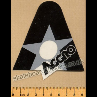 Tracker Trucks Aggro Old School Skateboard Sticker - grey