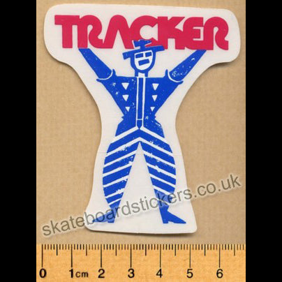 Tracker Trucks Old School Clown Skateboard Sticker