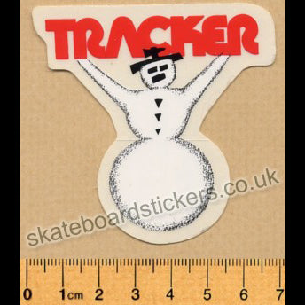 Tracker Trucks Old School Clown Snowman Skateboard Sticker