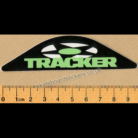 Tracker Trucks Old School Skateboard Sticker - black / green