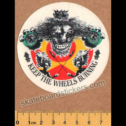 Tracker Ollie Wheels Old School Skateboard Sticker