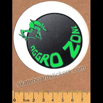 Tracker Trucks Aggro Zone Old School Skateboard Sticker