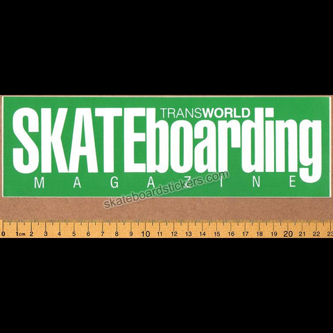 Transworld Magazine Old School Skateboard Sticker