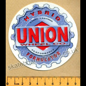 Union Old School Skateboard Sticker - SkateboardStickers.com