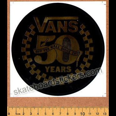 Vans Shoes Skateboard / BMX Sticker - 50 Years Off the Wall - SkateboardStickers.com