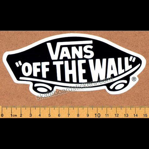 Vans Shoes Skateboard Sticker - Off The Wall